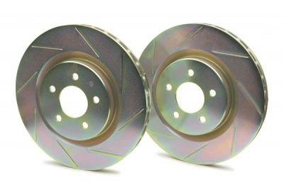 Brembo Sport Slotted Rotors (Brembo 33S60185 Sport Slotted Rear Rotors (281 dia x 12 th) Audi A3 2006-2008)