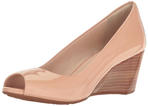 (Cole Haan Women's Sadie Ot Wedge 65mm Pump, Nude Patent, 7.5 B)