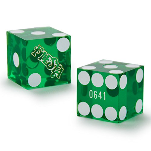 Pair (2) of Official 19mm Casino Dice Used at Fiesta Casinos by Brybelly ()