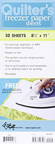 """Quilter's Freezer Paper Sheets, 8.5"""" x 11"""", 30 Sheets"""
