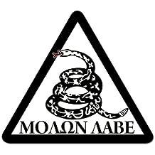B&W Triangle Molon Labe Don't Tread Snake Sticker (gun decal)