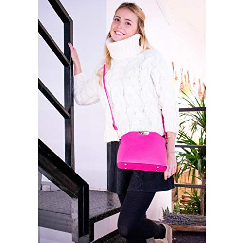 Hot Small para Hombro Azul al Crossbody Bags Mujer Pink showsing Bolso nxzCX8