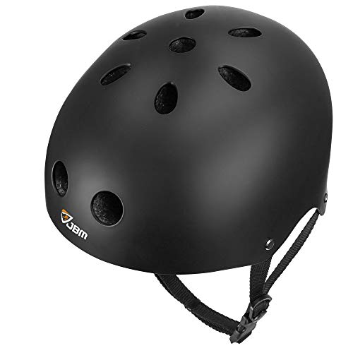 JBM international EPS foam Impact resistance & Ventilation Skateboard Helmet for Multi-sports, Small - Black ()