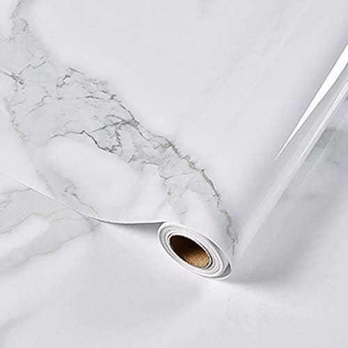 ケイ・ララ 大理石 シール 防水 カッティングシート [ホワイト] 幅60cm×10cm単位(お試しサンプル) インテリアシール 壁紙シール リメイクシート 光沢あり y3