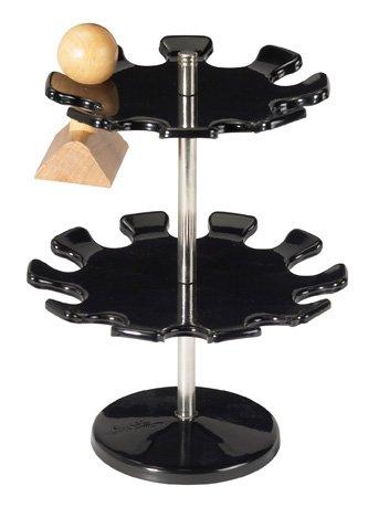 Stempelträger drehbar, 18 Stempel, 140 mm Øx190 mm Höhe, Etagen 2, schwarz