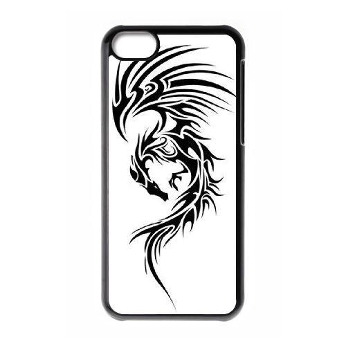 Dragon Tribal 008 coque iPhone 5C Housse téléphone Noir de couverture de cas coque EOKXLLNCD19548