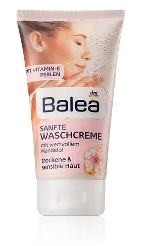 Balea suave face-wash crema para piel seca y sensible – con aceite de almendra