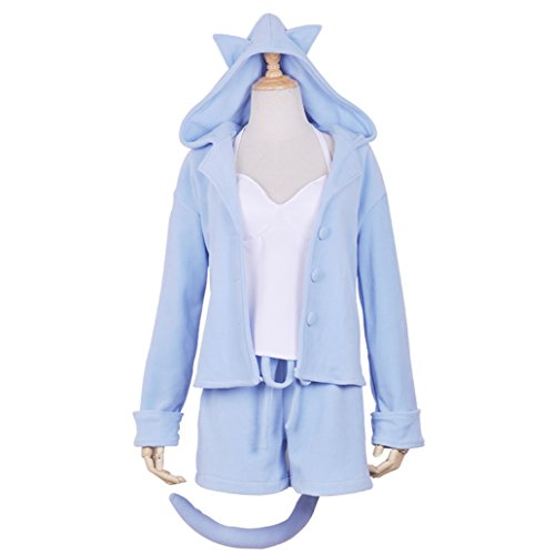 Ailancos Re-Zero Rem Ram Anime Girl Usual Costume Cosplay Costuming Pajamas Set Sleepwear S