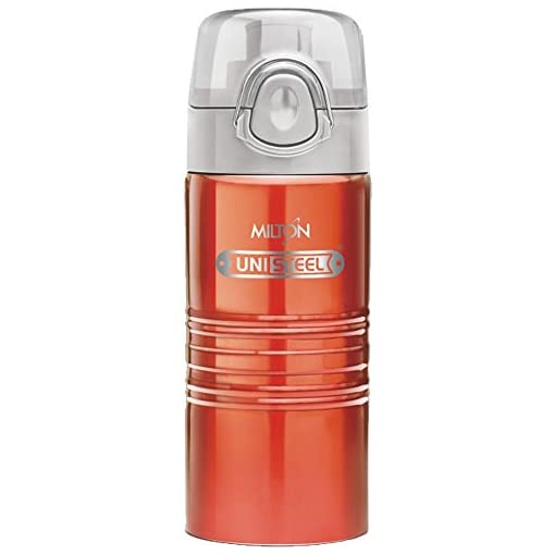 Milton Vogue Stainless Steel Water Bottle, 500Ml, Red