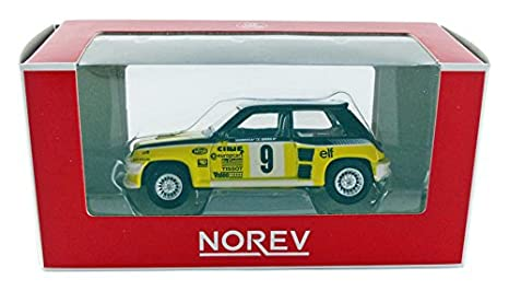 Norev 319226 - 5turbo - Renault 5 Turbo Rally (escala 1/64 - amarillo/negro/blanco: Amazon.es: Juguetes y juegos
