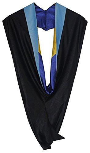 Graduationmall Unisex Deluxe Bachelor Graduation Hood  Lightblueroyalgold