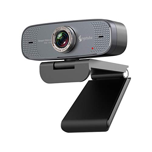 1080P USB Webcam with Mic PC Camera for Video Calling & Recording Video Conference/Online Teaching/Business Meeting…