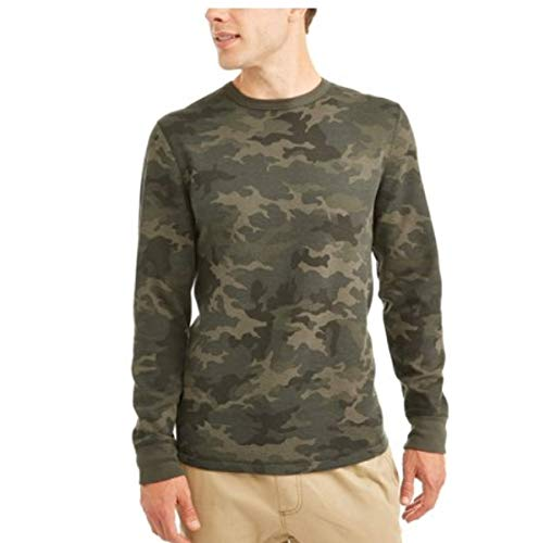 George Men's Long Sleeve Thermal Crew Neck Shirt (XL 46/48, Woodland Camo) ()