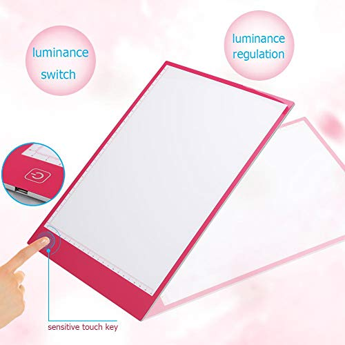 Digital A4 LED Copy Board Light Boxes Graphic Tablet for Drawing - Pink - Copy Led Sign