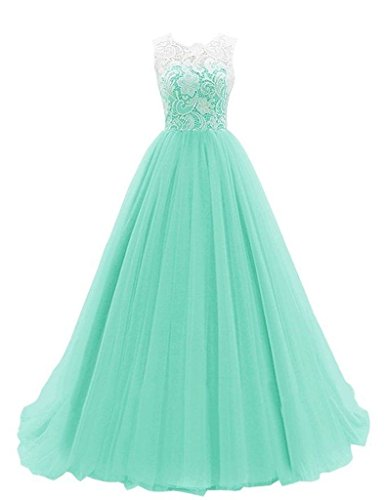Designer Prom Evening Gown Ball - Sisjuly Women's Lace Gown Long Evening Prom Dress Size 12 Mint