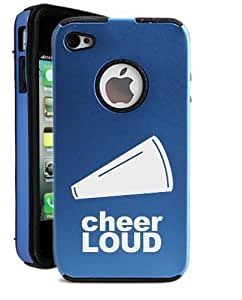 Cheerloud Cheerleader iPhone 4 Case - Candy Case iPhone 4S Case - Candy Case - MetalTouch Blue Aluminium Shell With Silicone