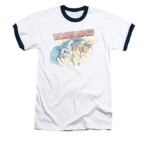 DC Comics Batman & Robin Bromance Men's T-Shirt White/Navy