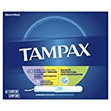 Tampax Cardboard Tampons, Multipack, Light/Regular/Super Absorbency, Unscented, 40 count (Pack of 3)