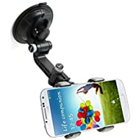 Motorola Moto Z Force Droid, Z Droid Compatible Multi Direction Rotating Car Mount Windshield Glass Clip Phone Holder Dock