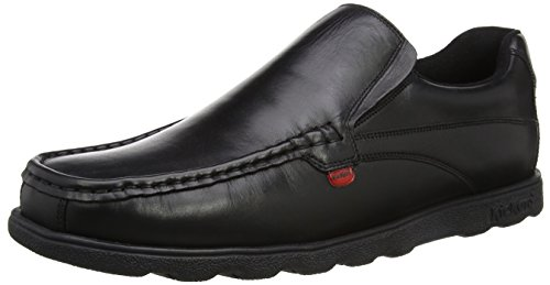 Kickers Fragma15 Slip MTO Lthr Am, Mocasines para Hombre Negro (Black)
