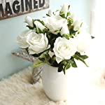 HitHopKing-Artificial-Rose-Flowers-Flannel-Flower-Bridal-Bouquet-Wedding-Party-Home-Decor-White-5