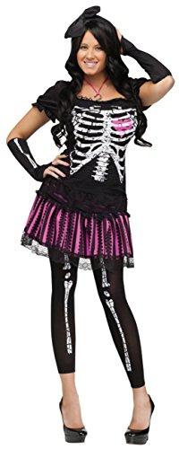 Funworld Womens Sally Skelly Bones Skeleton Theme Party Fancy Halloween Costume, S (Plus Size Sally Costumes)