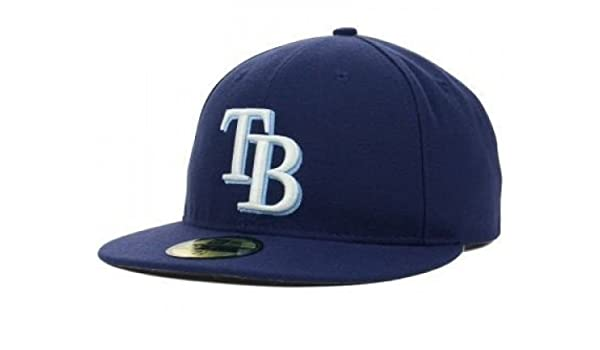 dd5da52cc0c Amazon.com   New Era Tampa Bay Rays MLB Authentic Collection 59FIFTY On  Field Cap NewEra   Sports   Outdoors