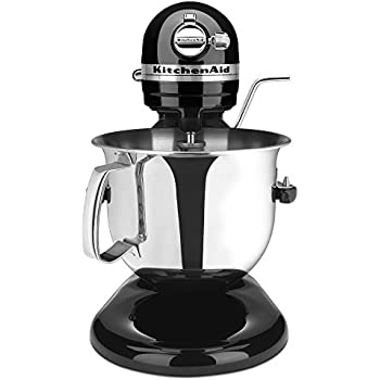 KitchenAid Professional 6000 HD KSM6573COB Stand Mixer, 6 Quart, Onyx Black