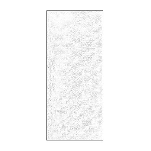 ITSOFT Non Slip Shaggy Chenille Soft Microfibers Runner Large Bath Mat for Bathroom Rug Water Absorbent Carpet, Machine Washable, 21 x 47 Inches White