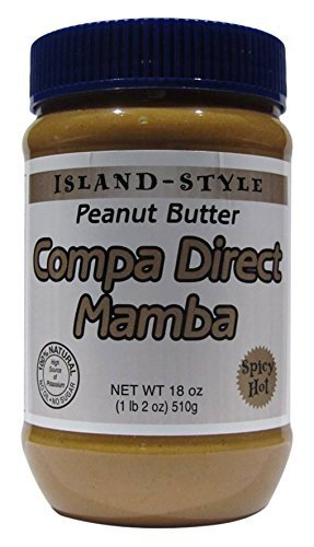 Compa Direct Mamba Spicy Hot Haitian and All Natural Peanut Butter, 18 oz.