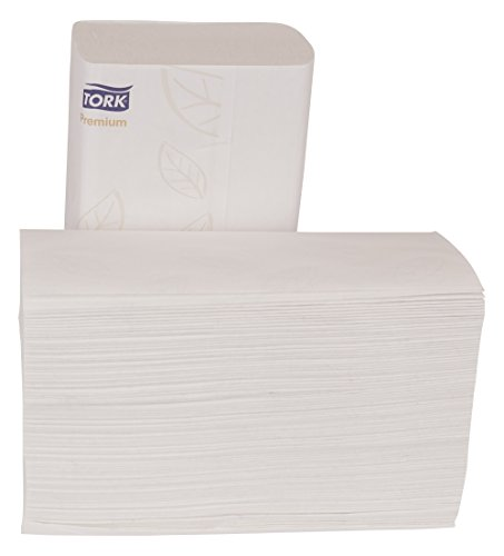 Tork Premium MB572 Soft Xpress Multifold Paper Hand Towel, 4-Panel, 2-Ply, 9.125'' Width x 3.625'' Length, White (Case of 32 Packs, 94 per Pack, 3,008 Towels) by Tork (Image #5)