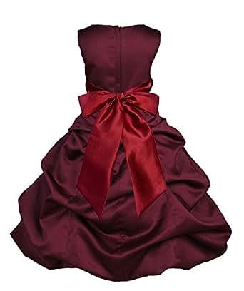 Amazon.com: Wedding Pageant Burgundy Pick-up Flower Girl ... - photo #12