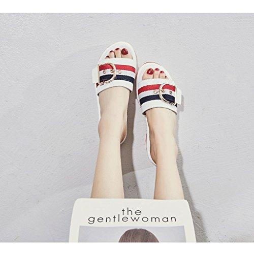Verano o Desgaste Deportivas Zapatillas de 5 Femenina Moda de Zapatos Tama de 0 Sandalias q8qSTwP