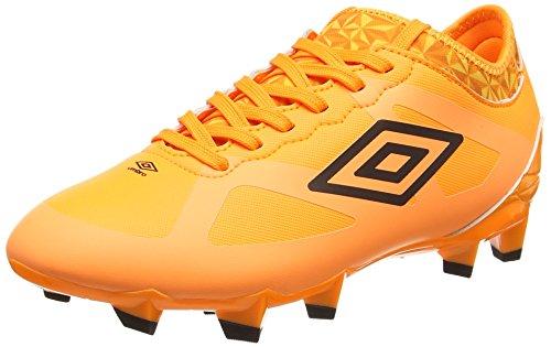 Umbro Velocita Iii Premier Hg-Jnr, Botas de Fútbol para Niños Naranja (Elz Orange Pop/Black)