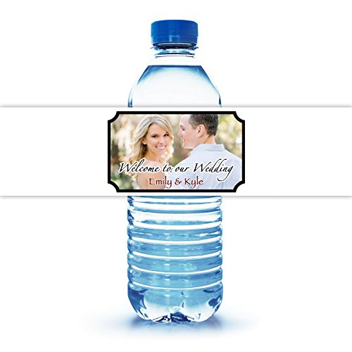 100 Personalized Water Bottle Labels for Wedding 8