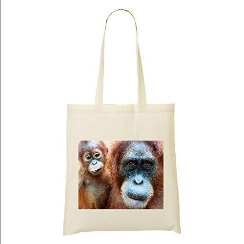 Image TOTE 17 Cotton BAG Orangutan Hf7Fx