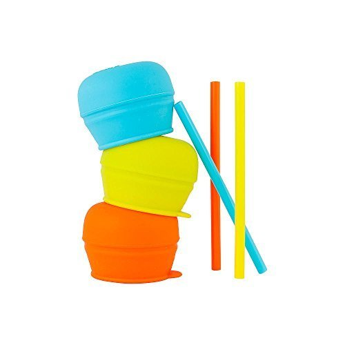 Boon Snug Straw 3Pk Blue/Orange/Green by Boon