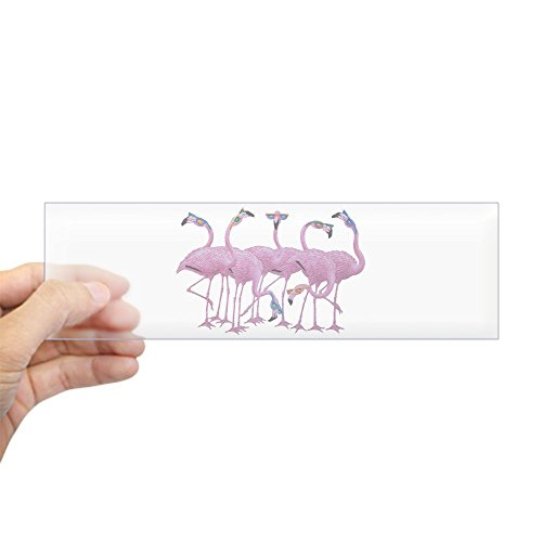Bumper Sticker Clear Cool Flamingos with - 1980s Bans Ray