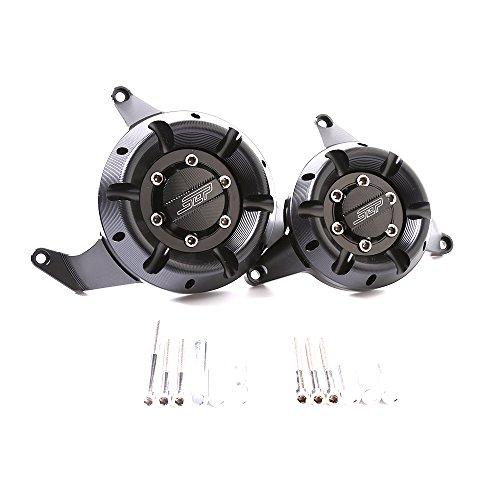 Motorcycle Engine Cover Generator Guard - CNC Aluminum Engine Stator Protector For Kawasaki Z800 2013-2015(Titanium):