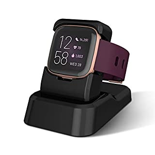 Fitbit Versa 2 Charger Stand, Kasmotion Replacement Charging Stand Clip Charging Cradle Dock Adapter Holder Compatible with Fitbit Versa 2