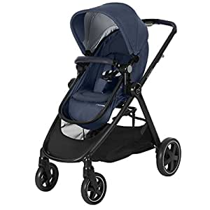 MAXI COSI Zelia Newborn Stroller with Reversible Seat and Bassinet, Nomad Blue