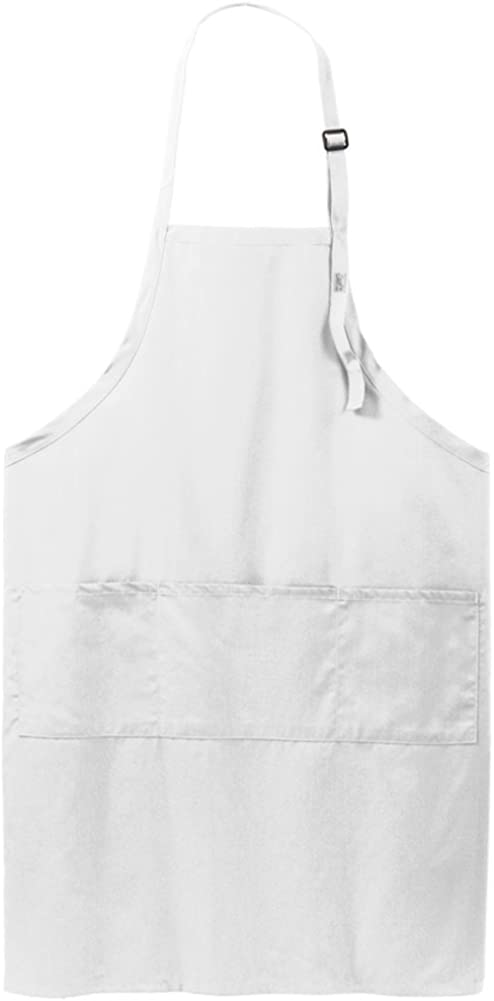 Heavyweight 8oz Adjustable Bib Apron with Three Pockets