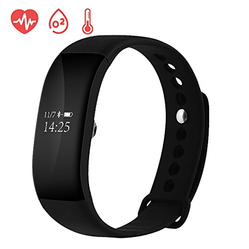 EWEMOSI Fitness Tracker - Heart Rate Blood Pressure Monitor - Bluetooth Wireless Smart Bracelet - Water Resistant Outdoor Activities Tracker - for Android IOS Smart Phones