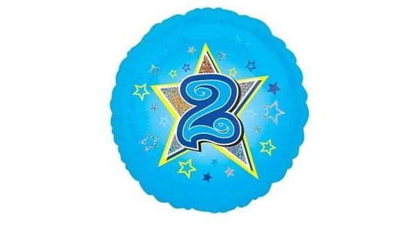 Anagram 2 años/2 nd cumpleaños estrellas azul 18 globo ...