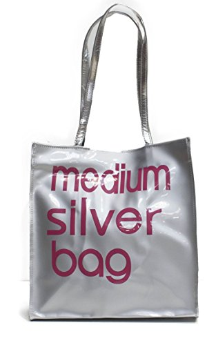 Women's Little / Medium Tote Bag Shoulder Shopper Handbag Medium Silver Bag