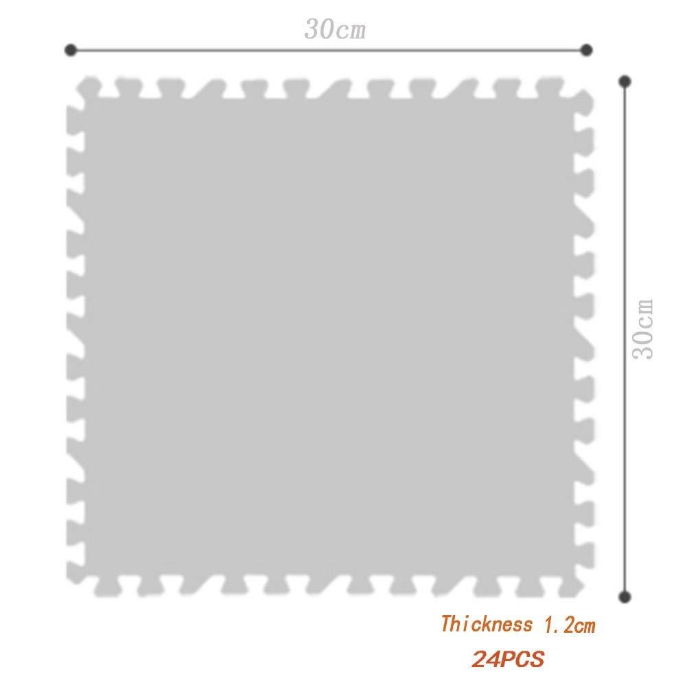 Color : Brown, Size : 24PCS YAYADU Suelos De Gimnasio Textura De Madera De Imitaci/ón Antideslizante A Prueba De Humedad Aislamiento Ac/ústico Alta Tenacidad Impermeable Costuras Sala