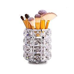Handcrafted Crystal Makeup Brush Holder Organizer