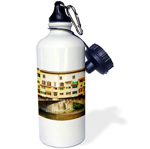 3dRose Danita Delimont - Cities - Shop windows and shutters, Ponte Vecchio, Florence, Tuscany, Italy - 21 oz Sports Water Bottle (wb_277636_1) by 3dRose