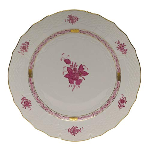 - Herend Chinese Bouquet Raspberry Porcelain Service Plate