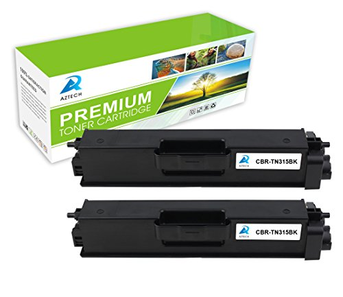 AZTECH 2 Pack 6,000 Pages Yield Black Toner Cartridge Replaces Brother TN-315BK TN315BK TN315 TN-315 TN 315 Used for Brother HL-4150CDN HL-4570CDW HL-4570CDWT MFC-9460CDN MFC-9560CDW MFC-9970CDW